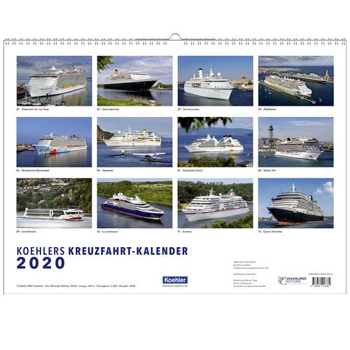 Oliver Asmussen Koehlers Kreuzfahrtkalender 2020